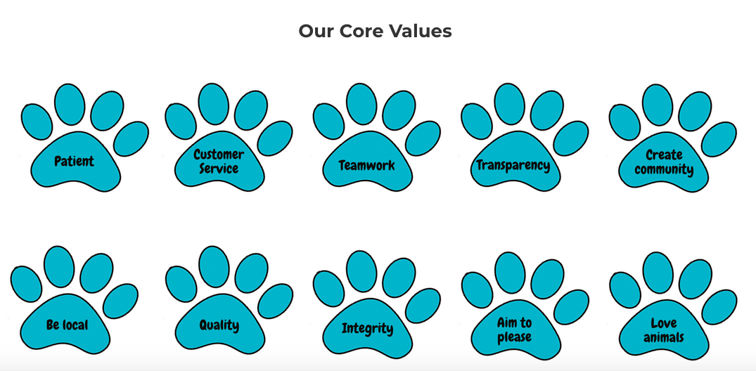 Learn More About Puff & Fluff's Core Values